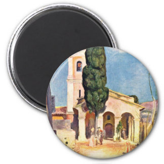 Church In Cagnes By Pierre-Auguste Renoir 2 Inch Round Magnet