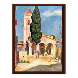 Church In Cagnes By Pierre-Auguste Renoir Postcard