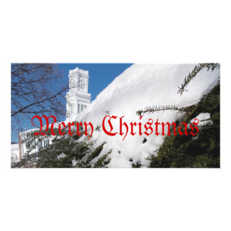 Church in Connecticut Christmas Card Photo Greeting Card