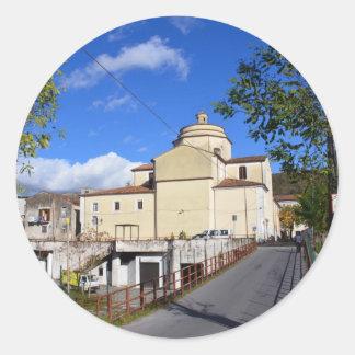 Church In Laino Borgo Classic Round Sticker