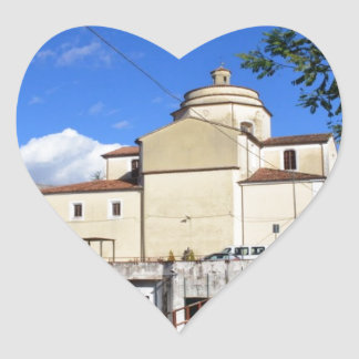 Church In Laino Borgo Heart Sticker