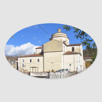Church In Laino Borgo Oval Sticker