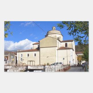 Church In Laino Borgo Rectangular Sticker