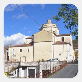 Church In Laino Borgo Square Sticker
