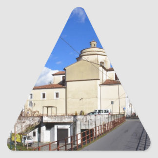 Church In Laino Borgo Triangle Sticker