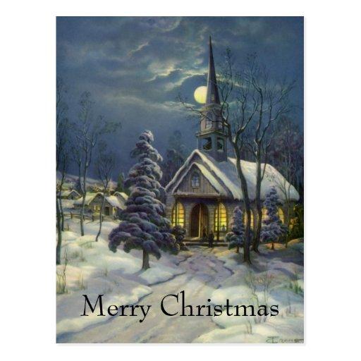 Church in Moonlight Postcards