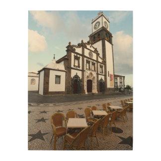 Church in Ponta Delgada Wood Wall Art