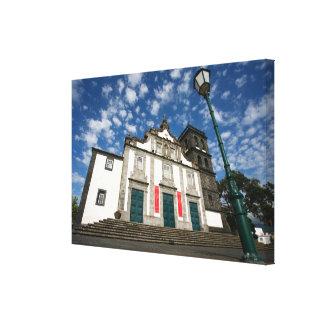Church in Ribeira Grande Canvas Print
