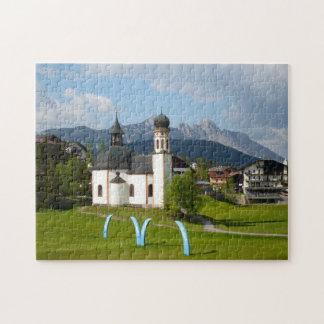 Church in Seefeld, Austria jigsaw puzzle
