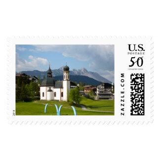 Church in Seefeld, Austria stamp