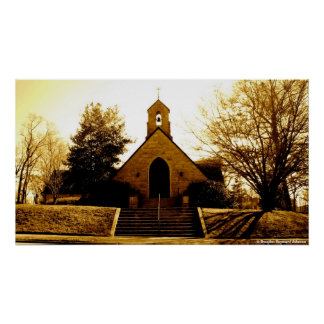 Church In Sepiatone Poster