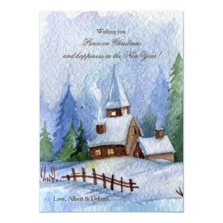 Church in Snow Christmas Cards