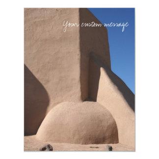 Church in Taos, New Mexico 4.25x5.5 Paper Invitation Card