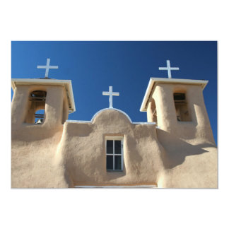 Church in Taos, New Mexico 5x7 Paper Invitation Card