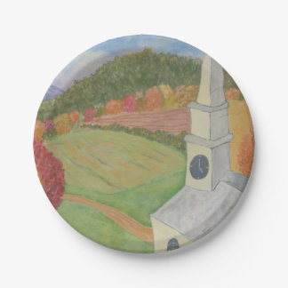 Church In The Country Paper Plate