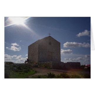 Church in the sun card
