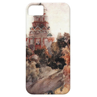 Church in the village Dyakovo by Vasily Surikov iPhone SE/5/5s Case