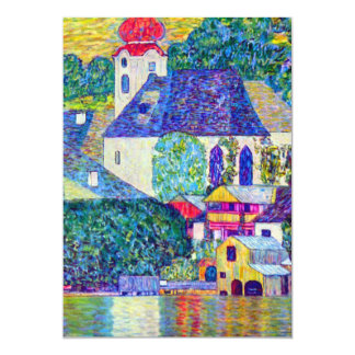 Church in Unterach on Lake Atter Klimt St Wolfgang Card