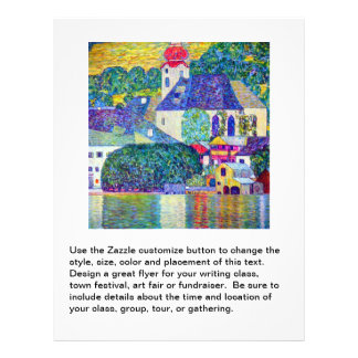Church in Unterach on Lake Atter Klimt St Wolfgang Personalized Flyer