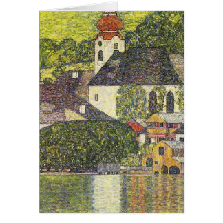 Church in Unterach on the Attersee Card