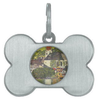Church in Unterach on the Attersee Pet Name Tag