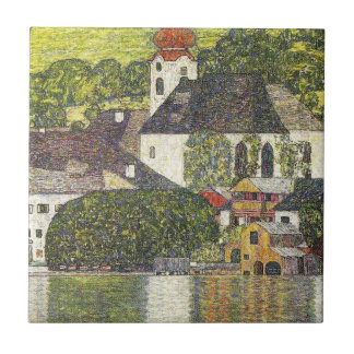 Church in Unterach on the Attersee Tile