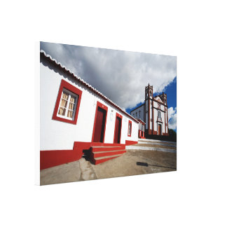 Church in Vila do Porto Canvas Print