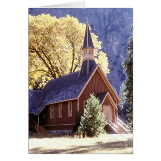 Church in Yosemite National Park Card