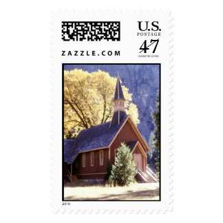 Church in Yosemite Postage Stamp