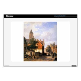"Church in Zaltbommel by Cornelis Springer 15"" Laptop Skins"