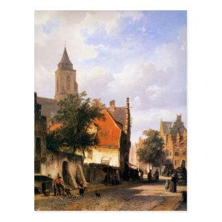 Church in Zaltbommel by Cornelis Springer Postcard