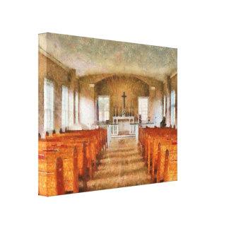 Church - Inside a church Canvas Prints