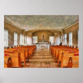 Church - Inside a church Posters
