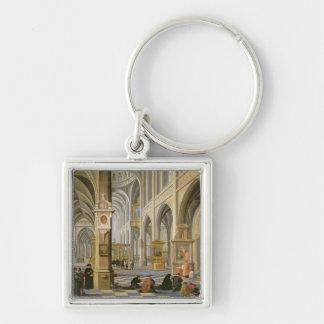 Church interior keychain