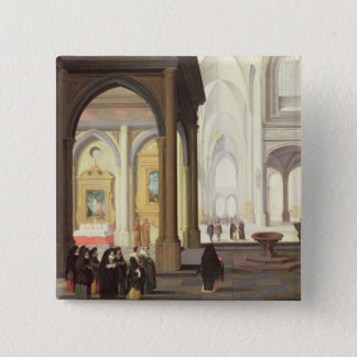 Church Interior Pinback Button