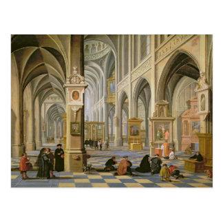 Church interior postcard