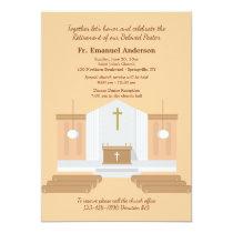 Church Interior Retirement Party Invitation