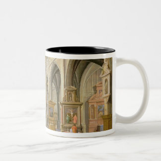 Church interior Two-Tone coffee mug