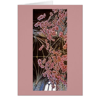 Church Interior with Pink Flowers (2) Card