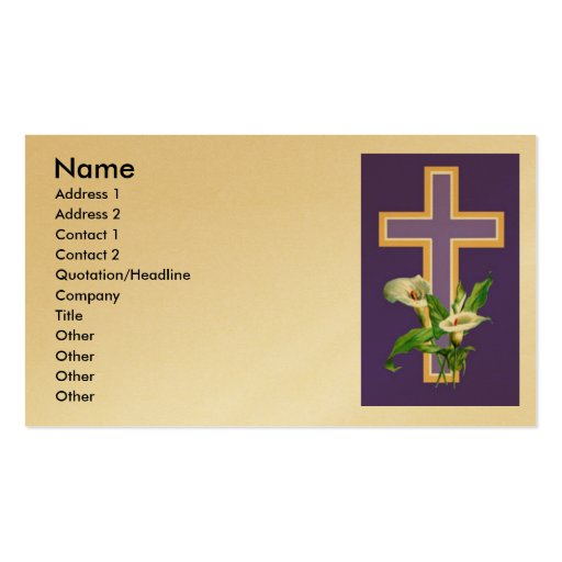 Church invitation double sided standard business cards for Church business cards templates free