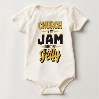 CHURCH Jam Jelly Music Religious Christian Baby Bodysuit