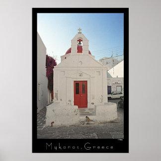 Church Kitty - Mykonos Posters