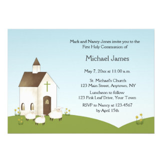 Church Lambs Communion Invitation