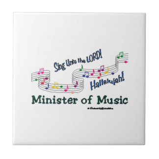 Church Minister of Music Notes Tile