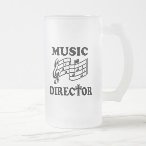CHURCH MUSIC DIRECTOR 16 OZ FROSTED GLASS BEER MUG