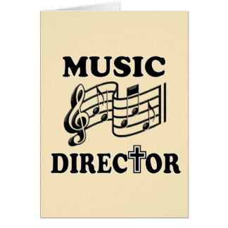 CHURCH MUSIC DIRECTOR CARD