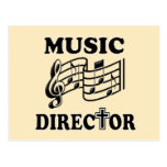 CHURCH MUSIC DIRECTOR POSTCARD