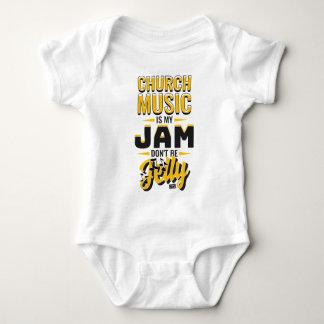 CHURCH MUSIC Jam Jelly Music Religious Christian Baby Bodysuit