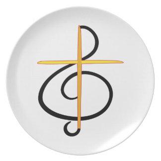 Church Musician Melamine Plate