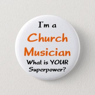 church musician pinback button